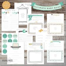 Baby Book Template Ultimate Baby Book