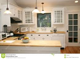 white country kitchen with butcher block. Perfect Country White Country Gourmet Kitchen With Butcher Block Countertops And With