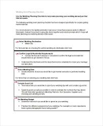 Wedding Coordinator Checklist Wedding Planner Checklist 14 Free Word Pdf Psd