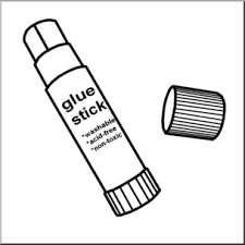 glue stick clipart black and white. Exellent Clipart Clip Art Glue Stick  Inside Clipart Black And White L
