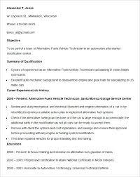 Auto Mechanic Resume Templates Automobile Resume Templates 25 Free Word Pdf Documents Download