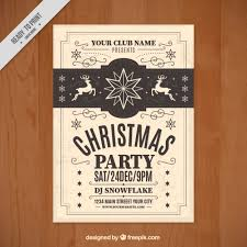 Free Christmas Flyer Templates Download Vintage Christmas Flyer Template Vector Free Download