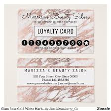 Discount Punch Card Glam Rose Gold White Marble Loyalty Discount Punch In 2018