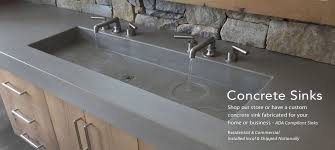 Concrete Countertops And Concrete Sinks In The HomeConcrete Sink Kitchen