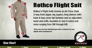 Rothco Pants Size Chart Rothco Flight Suit Size Chart Www Bedowntowndaytona Com