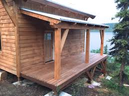 hand building a timberframe shed deck roof