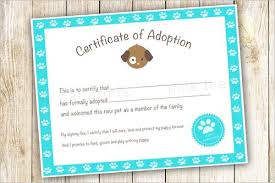 Pet Adoption Certificate Template 17 Adoption Certificate Templates Free Pdf Word Design