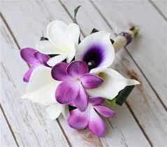 Natural Touch Purple Orchids Bouquet