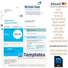 Bill Template Passport Psd Templates