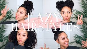 Easy Hairstyles On The Go Lazy Hairstyles For Curly Hair Quick Easy On The Go Youtube