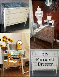 picture of diy mirrored dresser