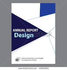 sample title blue annual report title page sample stock vector hd royalty free