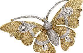 Wallpaper butterfly, stone, diamonds ...