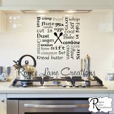 Kitchen Wall Decal - Bakers Kitchen Word Art Wall Decal -Kitchen Decal -Kitchen  Decor-Kitchen Art Kitchen Wall Decor-Kitchen Wall Decor