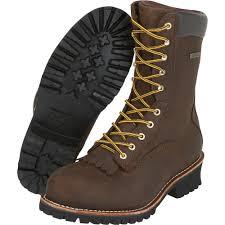 waterproof steel toe logger work boots brown size 9