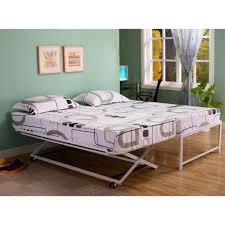 K\u0026B Hi Riser Twin Bed With Pop Up Trundle - Free Shipping Today ...