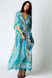 Chiffon Printed Kaftan Dress