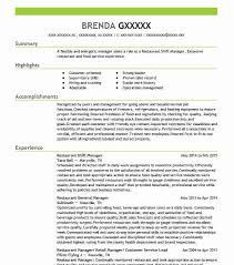 Shift Manager Resume Delectable Best Restaurant Shift Manager Resume Example LiveCareer