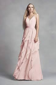 chiffon bridesmaid dresses long short lengths david s bridal