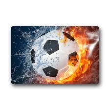 memory home cool soccer ball art non slip indoor or outdoor door mat doormat home