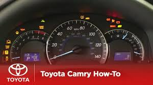 2014.5 Camry How-To: Dashboard Warning Lights | Toyota - YouTube