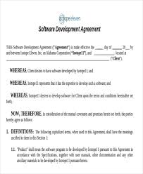 software developer contract template. 7 Development Agreement Contract Samples Sample Templates