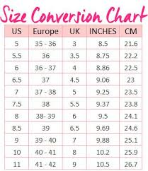 European Size Chart Women S Shoes Guilty Shoes Womens Shoes Size Conversion Chart