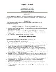 Finance Resume Objective Free Resume Templates 2018