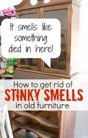 smells out of old furniture