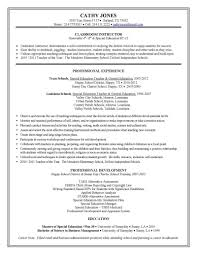 Resume Examples New Special Education Teacher Resume Template