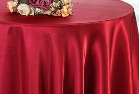 120 round satin tablecloth apple red 55808 1pc pk