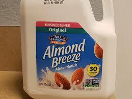 almonds almond breeze unsweetened original almondmilk