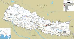 road map of nepal ezilon maps Nepal India Map nepal map road map of nepal nepal india border map