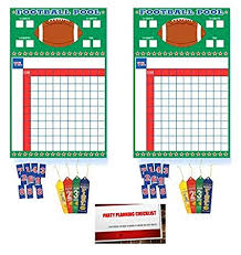 Office Footballpool 2 Pack Football Super Bowl Sunday Nfl College Office Pool Frenzy Monday Game Night Sheet With Ribbons Plus Party Planning Checklist By Mikes Super