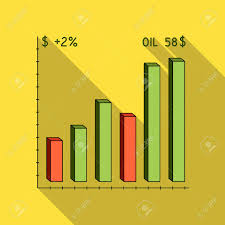 Oil Price Chart Oil Single Icon In Flat Style Vector Symbol Stock