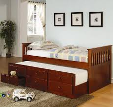 Rugs For Bedroom Furniture Stained Wood Trundle Daybed With Rugs For Kid Bedroom Idea