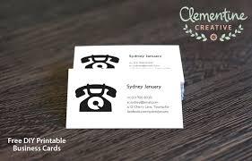 Free Printable Business Templates Free Diy Printable Business Card Template
