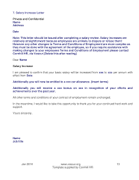 Requesting A Salary Increase Salary Increment Complaint Letter Templates At