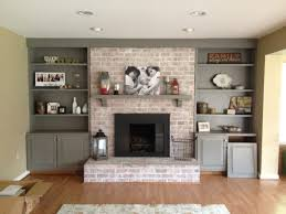painted white brick fireplaceEnchanting Modern Brick Fireplace 66 Mid Century Modern White