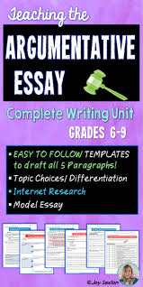 sample essay for elementary students best ideas about sample  17 best ideas about sample essay argumentative argumentative essay argumentative writing unit common core aligned 6