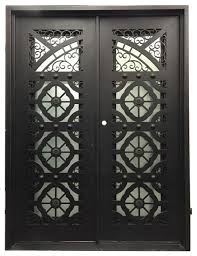 kingsley 72 x96 sandblast glass right hand inswing mediterranean front doors by universal iron doors hardware inc