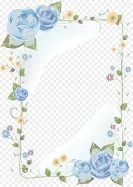 Paper With Flower Border Flower Border Background