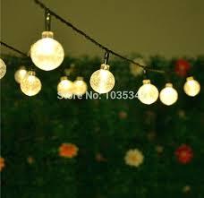 solar led garden string lights globe outdoor