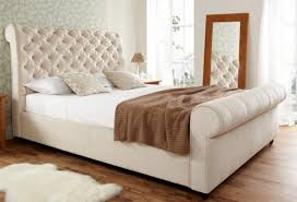 tufted upholstered sleigh bed. Delighful Upholstered Perfect Upholstered Sleigh Bed With Tufted King  Size White Throughout