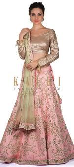 Kalki Lehenga Designs Baby Pink Lehenga In Zari And Kundan Work With Sequin Blouse