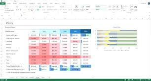 Business Financials Template Purly Co