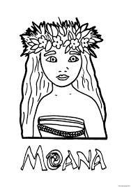 Small Picture Moana princess Coloring pages Printable