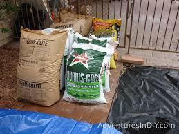 mixing raised bed garden soil