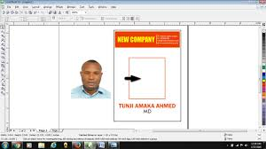 identity card size how to design id card in coreldraw free tutorials for beginners