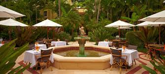 the courtyard at cafe boulud courtesy photo